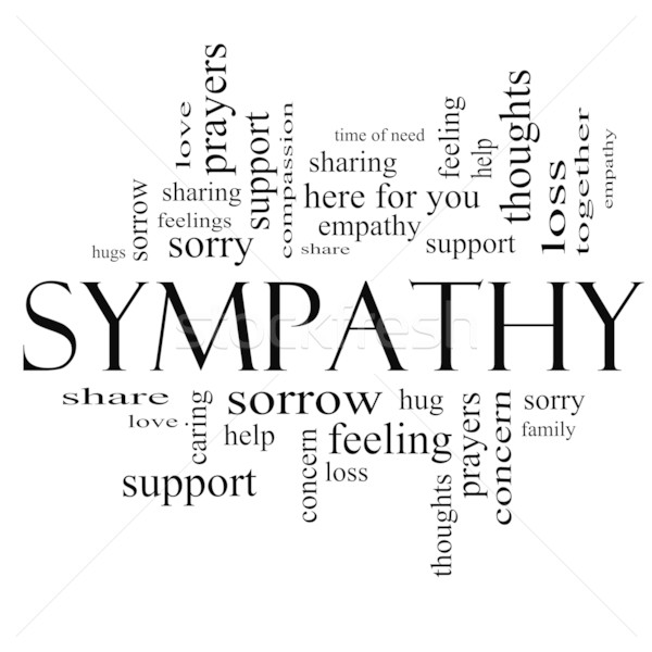 Sympathy Word Cloud Concept in Black and White Stock photo © mybaitshop