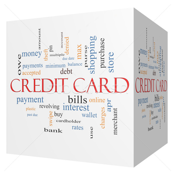 Credit Card 3D Cube Word Cloud Concept Stock photo © mybaitshop