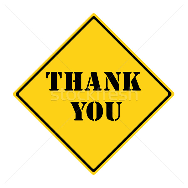 Thank You Sign Stock photo © mybaitshop