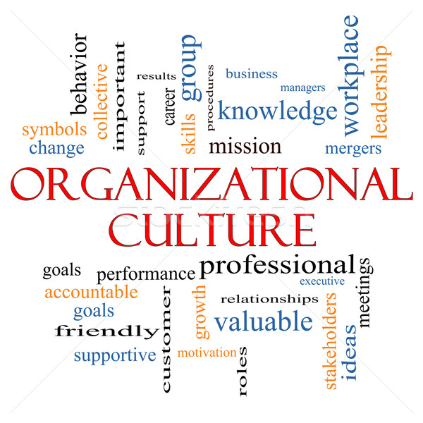 Organizational Culture Word Cloud Concept Stock photo © mybaitshop
