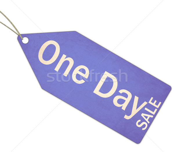 One Day Sale Blue Tag and String Stock photo © mybaitshop