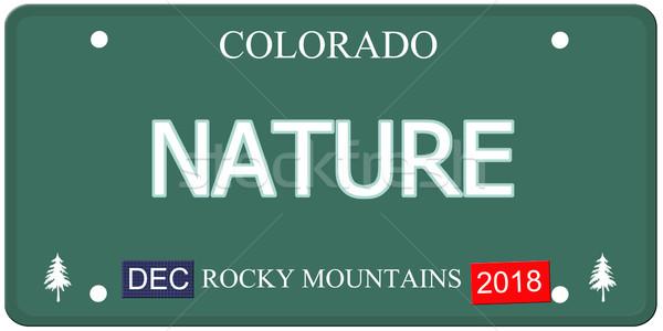 природы Колорадо номерной знак поддельный слово Сток-фото © mybaitshop