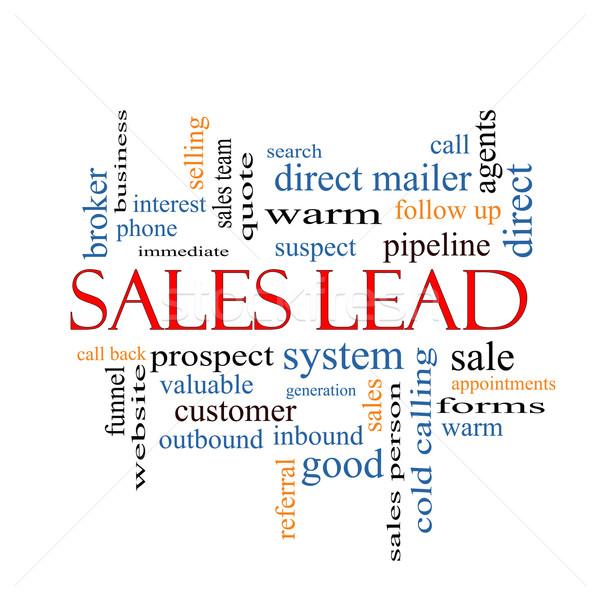Sales Lead Word Cloud Concept Stock photo © mybaitshop