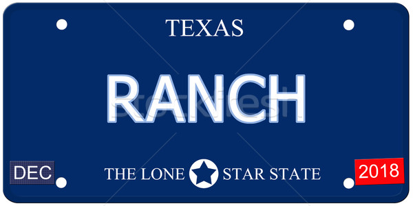 Ranch Texas Imitation License Plate Stock photo © mybaitshop
