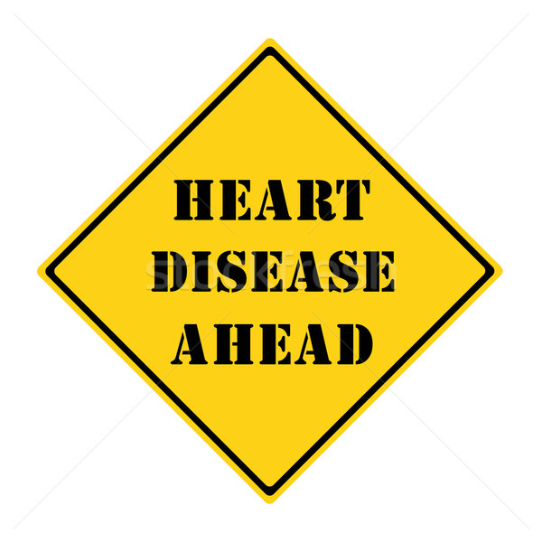 Heart Disease Ahead Sign Stock photo © mybaitshop