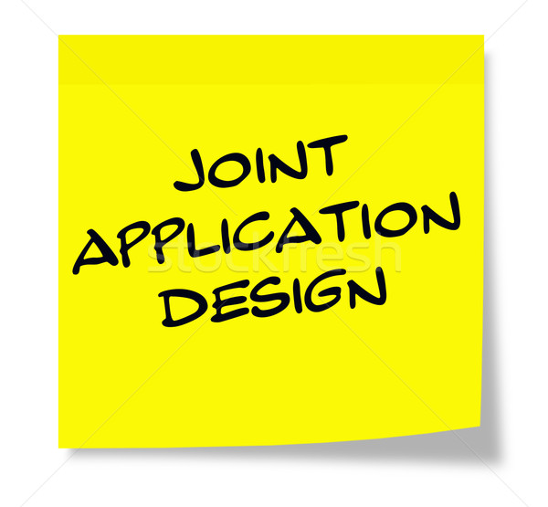 Joint Application Design yellow sticky note Stock photo © mybaitshop