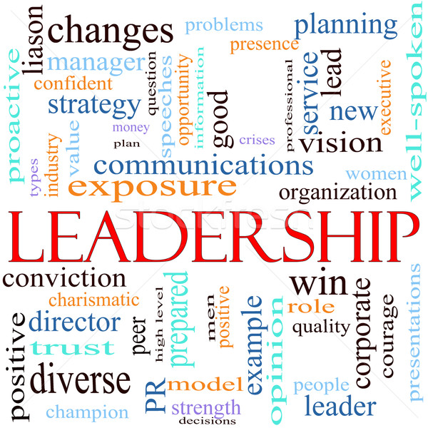 Leadership word concept illustration Stock photo © mybaitshop