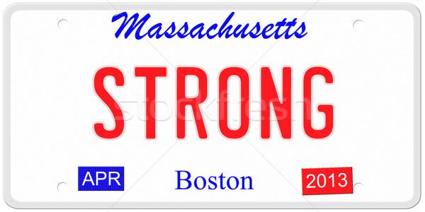 сильный номерной знак имитация Массачусетс 2013 Сток-фото © mybaitshop