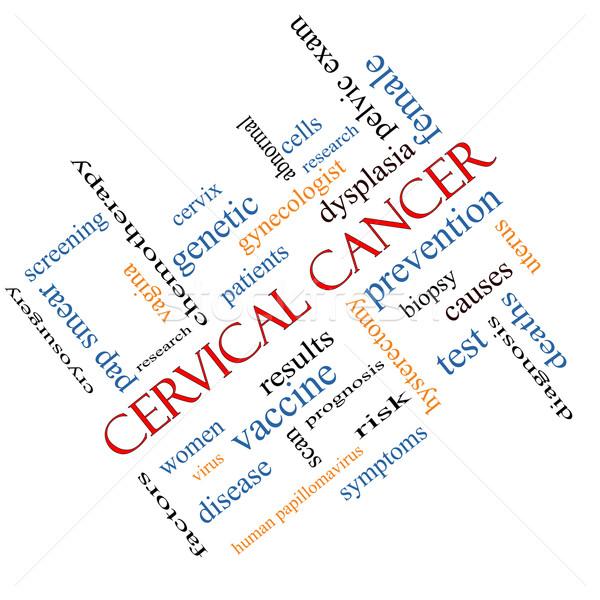 Cancro word cloud prevenzione donne virus Foto d'archivio © mybaitshop