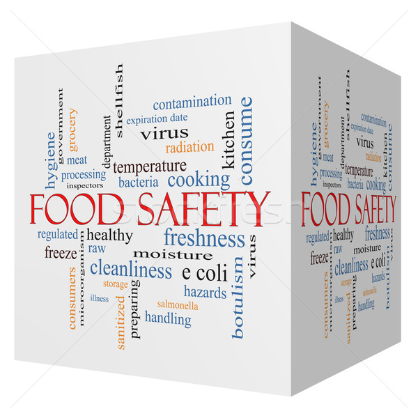 Food Safety 3D cube Word Cloud Concept Stock photo © mybaitshop