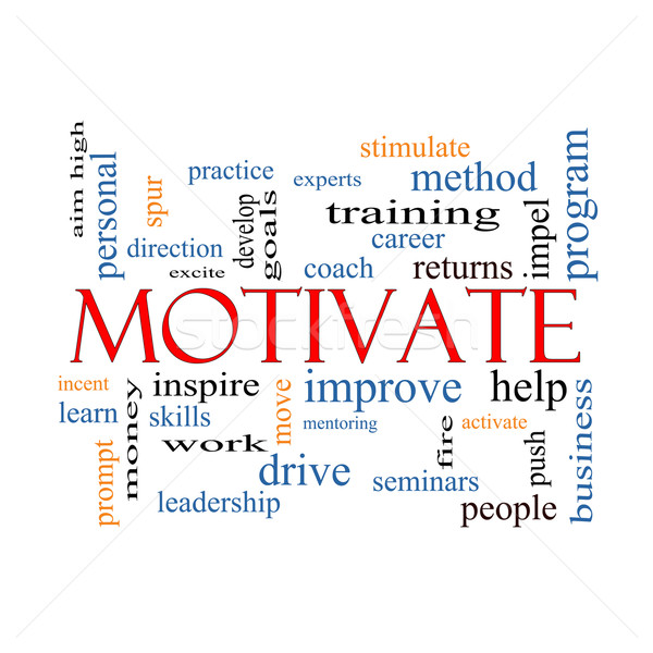 Motivate Word Cloud Concept Stock photo © mybaitshop