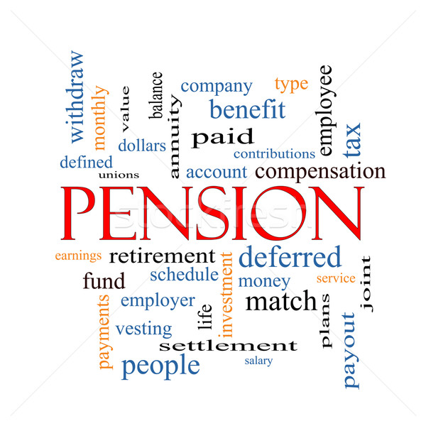 Pension Word Cloud Concept Stock photo © mybaitshop