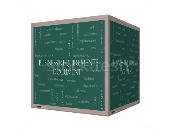 Business documento word cloud 3D lavagna Foto d'archivio © mybaitshop