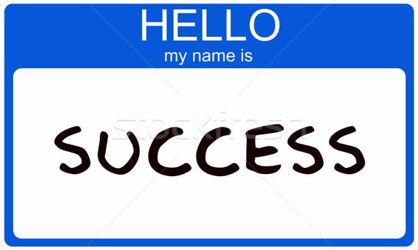 Hello Success Stock photo © mybaitshop