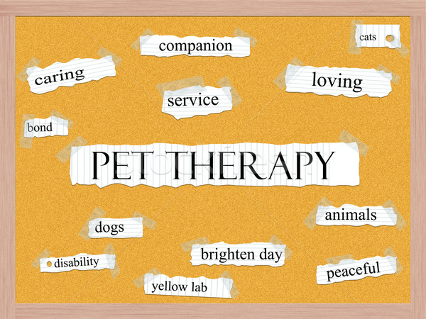 Pet Therapy Corkboard Word Concept Stock photo © mybaitshop