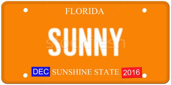 Soleado Florida placa imitación diciembre 2016 Foto stock © mybaitshop