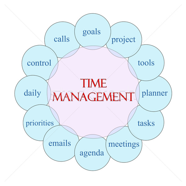 Időbeosztás körkörös szó diagram rózsaszín kék Stock fotó © mybaitshop