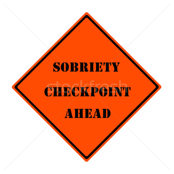 Security Checkpoint Ahead Sign Stock photo © mybaitshop