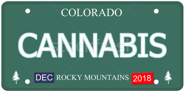 Cannabis Colorado License Plate Stock photo © mybaitshop