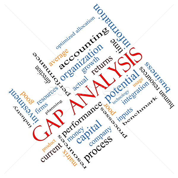 Stock photo: Gap Analysis Word Cloud Concept Angled