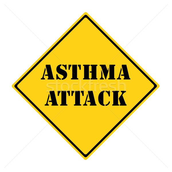 астма атаковать знак желтый черный Diamond Сток-фото © mybaitshop