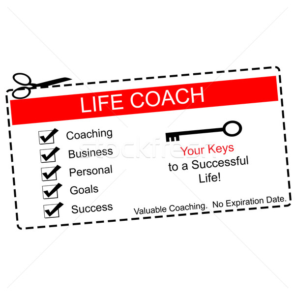 Life Coach Coupon Red and White Stock photo © mybaitshop