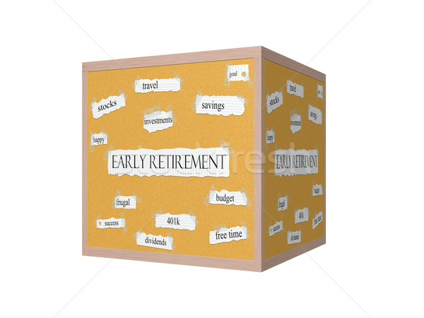 Early Retirement 3D Corkboard Word Concept Stock photo © mybaitshop