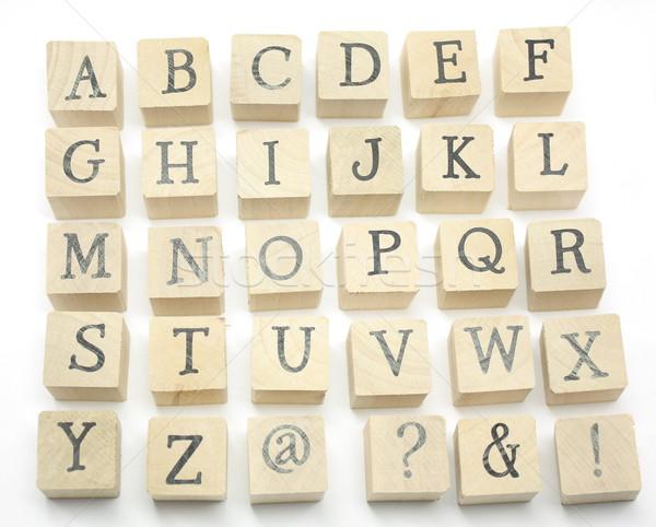 Home Made Blocks Alphabet Stock photo © mybaitshop