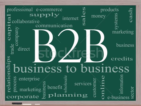 B2b слово облако доске бизнеса электронной коммерции Сток-фото © mybaitshop