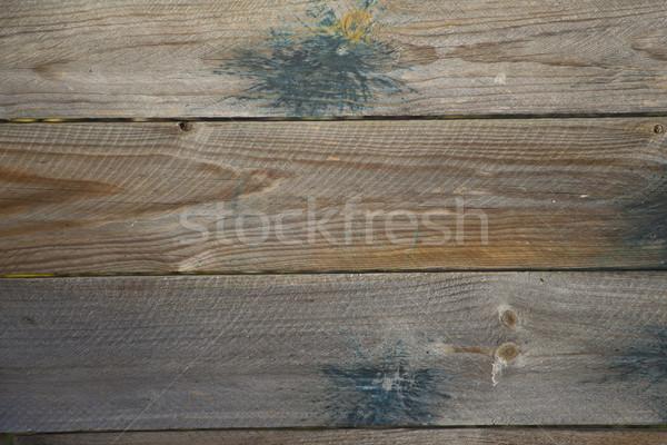 Paintball manchado textura de madera dos otro Foto stock © mybaitshop