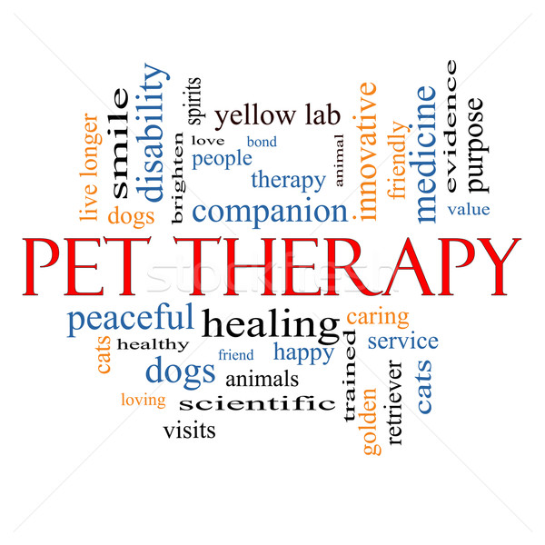 Pet Therapy Word Cloud Concept Stock photo © mybaitshop