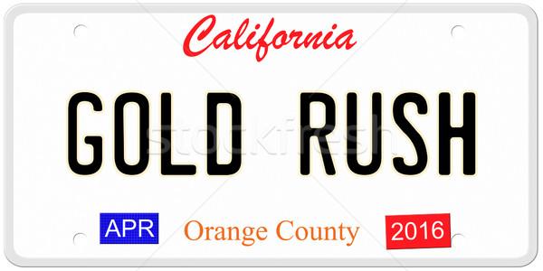 Califórnia ouro apressar imitação placa 2016 Foto stock © mybaitshop