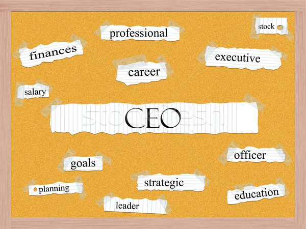CEO Corkboard Word Concept Stock photo © mybaitshop