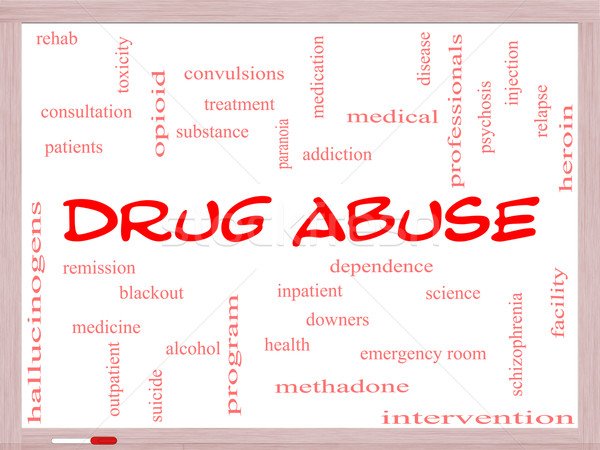 Droga abuso word cloud dipendenza Foto d'archivio © mybaitshop