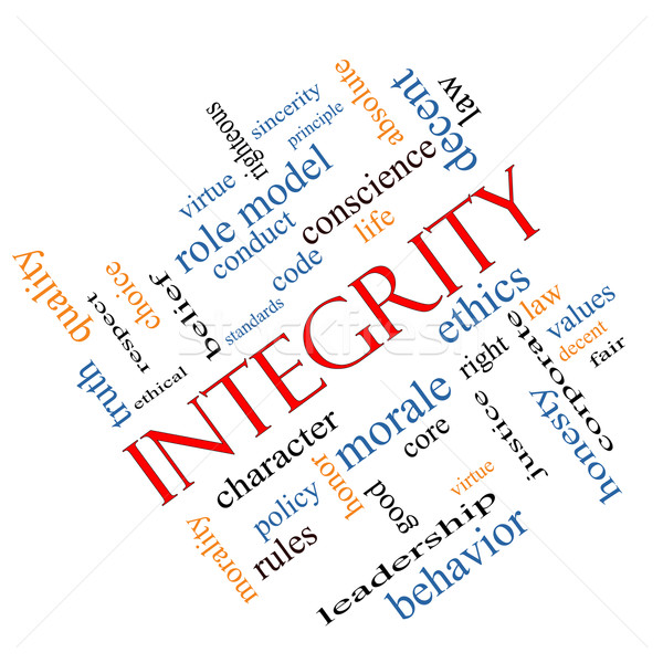 Integrity Word Cloud Concept Angled Stock photo © mybaitshop