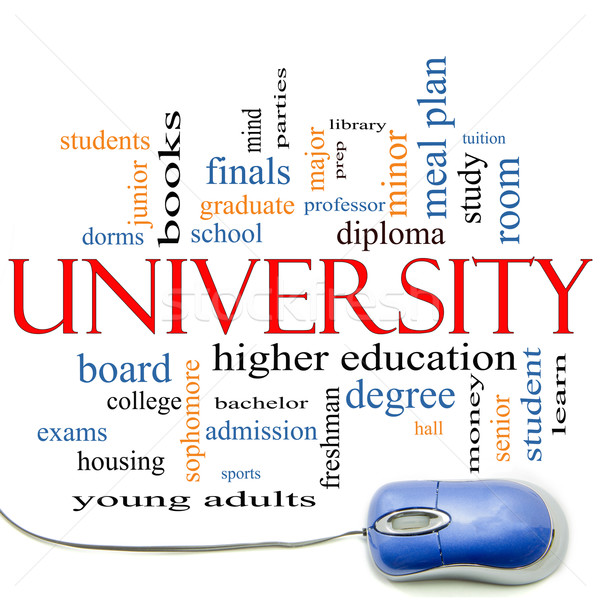 University Word Cloud Concept with mouse Stock photo © mybaitshop