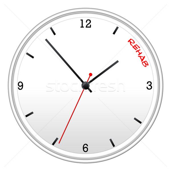 Tempo reabilitação branco parede relógio Foto stock © mybaitshop