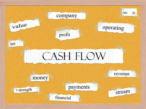 Cash Flow Corkboard Word Concept Stock photo © mybaitshop