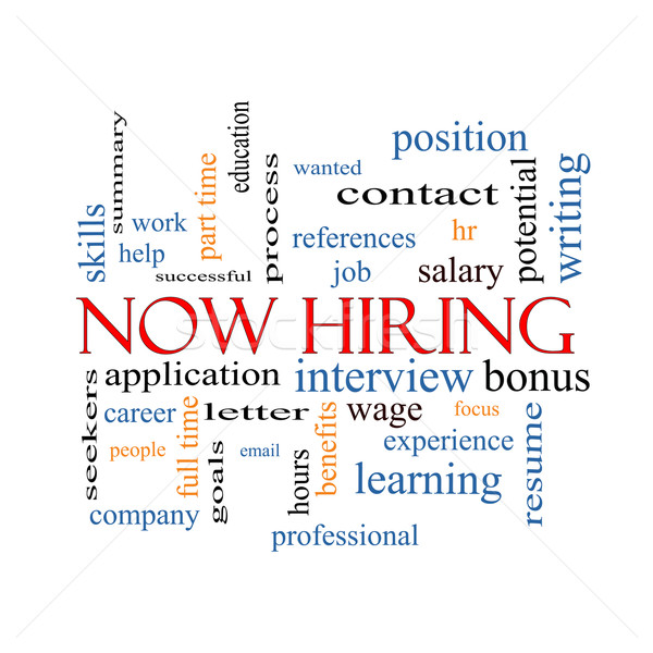 Now Hiring Word Cloud Concept Stock photo © mybaitshop