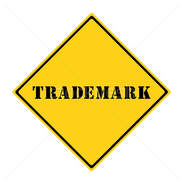 Handelsmerk teken Geel zwarte diamant Stockfoto © mybaitshop