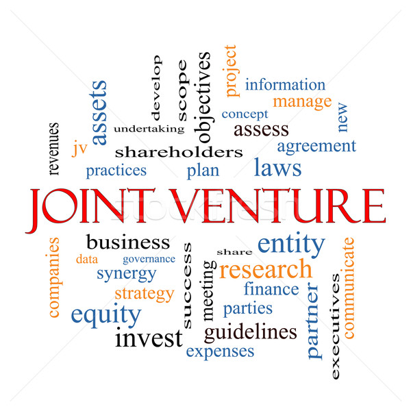 Joint Venture Word Cloud Concept Stock photo © mybaitshop