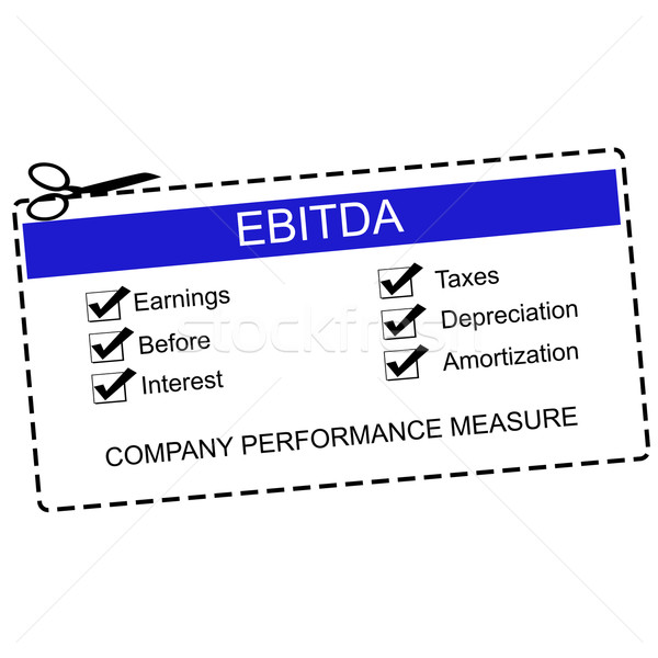 EBITDA Blue Coupon Concept Stock photo © mybaitshop