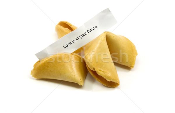 Amore futuro fortune cookie cinese cookies screpolato Foto d'archivio © mybaitshop