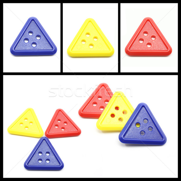 Collage of Colorful Triangle Buttons Stock photo © mybaitshop