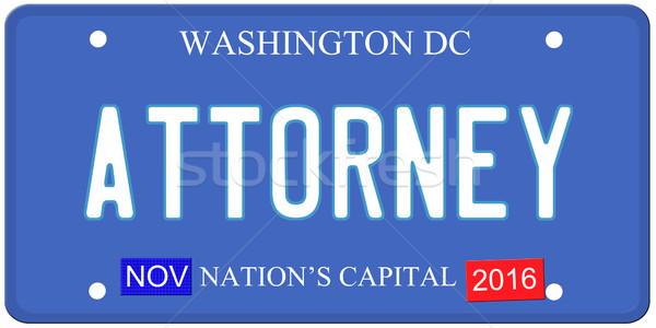 Washington DC advogado imitação placa 2016 adesivos Foto stock © mybaitshop