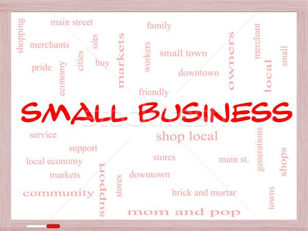 Empresa de pequeno porte nuvem da palavra compras local Foto stock © mybaitshop