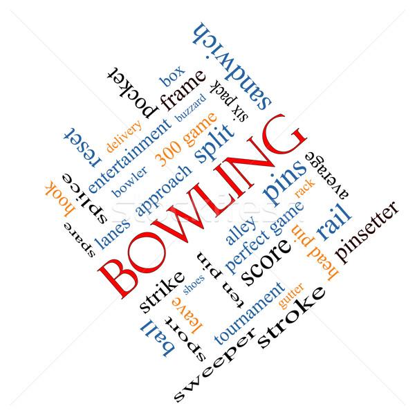 Bowling Word Cloud Concept Angled Stock photo © mybaitshop