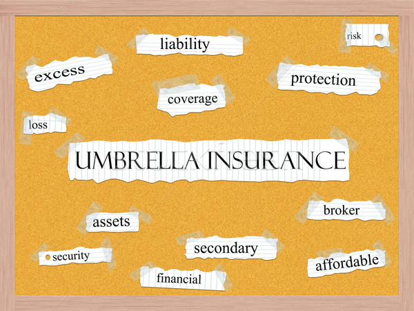 Umbrella Insurance Corkboard Word Concept Stock photo © mybaitshop