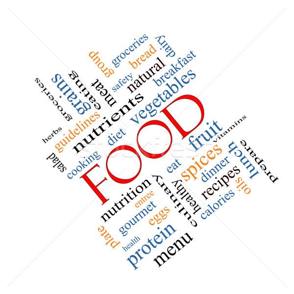 Food Word Cloud Concept Angled Stock photo © mybaitshop