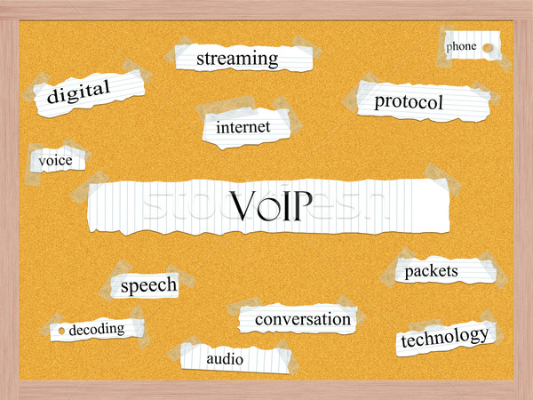 VOIP Corkboard Word Concept Stock photo © mybaitshop